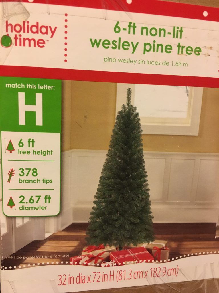 Holiday Time Christmas Tree.New Holiday Time 6 Ft Non Lit Wesley Pine Artificial Slim